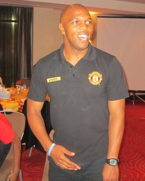 DHL brings Manchester United legend Quinton Fortune to Ethiopia