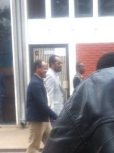 Bekele Gerba arriving at court A