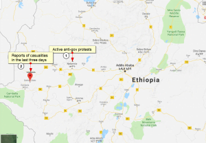 Anti-government protests Dembi Dolo and Nekemt in western Ethiopia 3