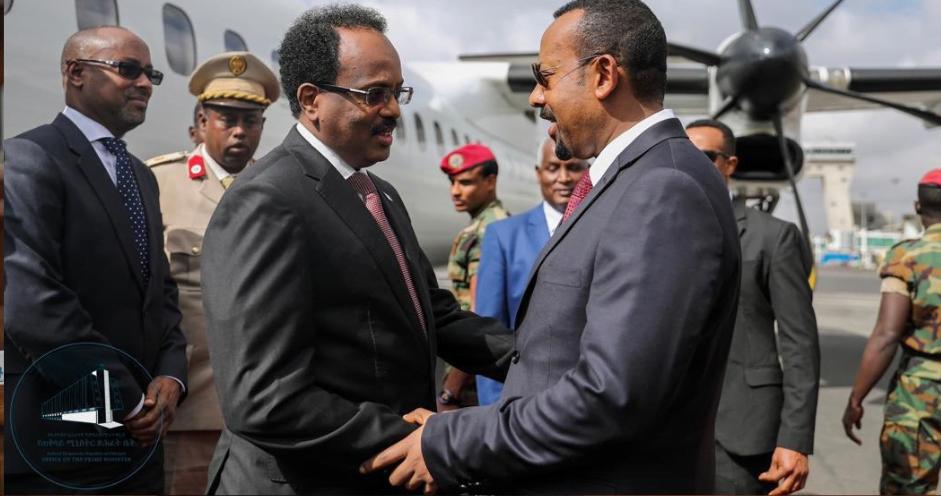 Breaking: PM Abiy Ahmed, President Mohamed Abdullahi Mohamed en