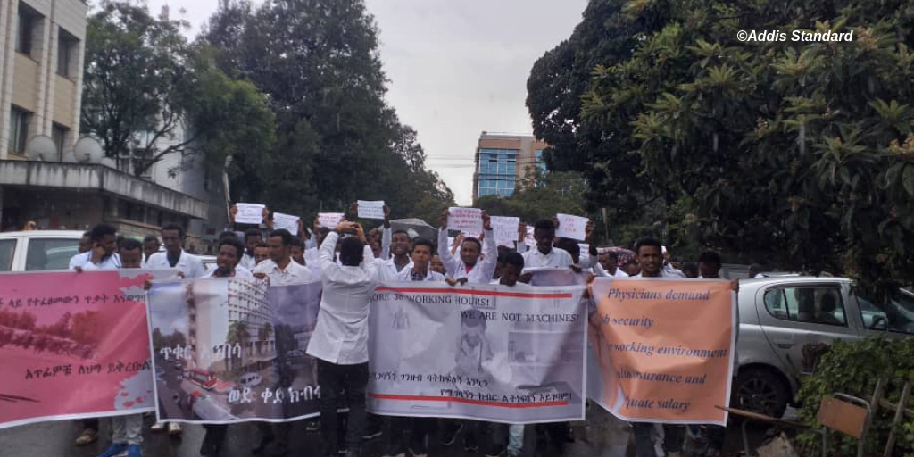 News: Medical interns, students and professionals stage protests in