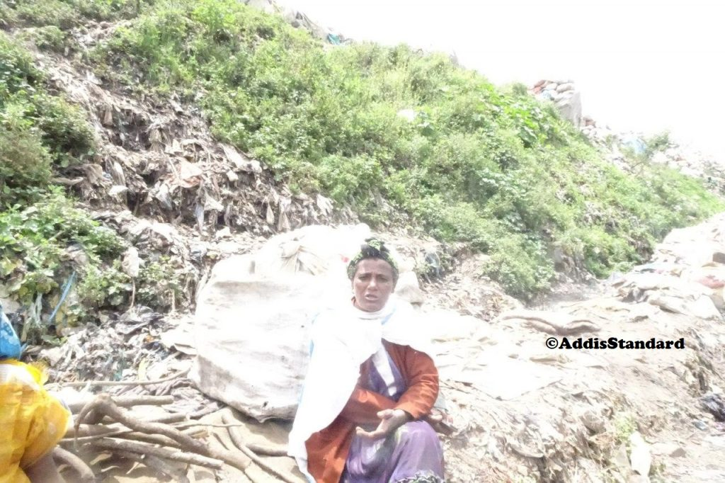 Agegnhush Arega, resident at Reppi landfill